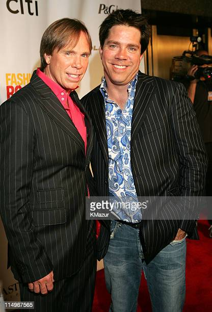 Tommy Hilfiger and Andy Hilfiger during Conde Nast Media Group Presents Fashion Rocks 2004 Arrivals at Radio City Music Hall in New York City New...