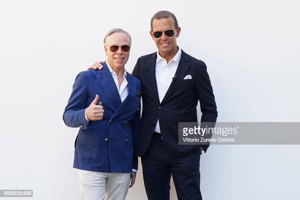 Tommy Hilfiger and Daniel Grieder attend the Tommy Hilfiger Spring 2018 Collection Preview during 92 Pitti Immagine Uomo on June 13 2017 in Florence...