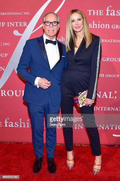 Tommy Hilfiger and Dee Hilfiger attend the Fashion Group International's 34th Annual Night of Stars Gala at Cipriani Wall Street on October 26 2017...