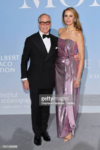 Tommy Hilfiger and Dee Hilfiger attend the MonteCarlo Gala for the Global Ocean 2018 on September 26 2018 in MonteCarlo Monaco