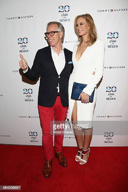 Tommy Hilfiger and Dee Hilfiger attend the Tommy Hilfiger in México 20th anniversary at ExConvento de San Hipolito on April 10 2014 in Mexico City...