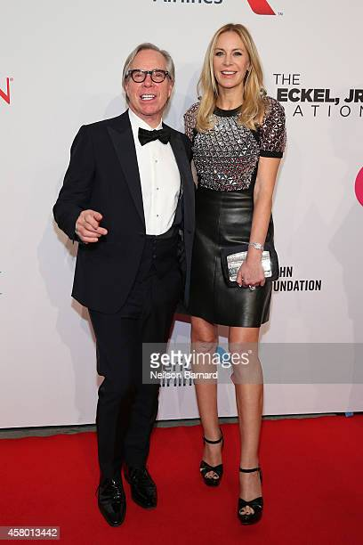 Tommy Hilfiger and Dee Ocleppo attend the Elton John AIDS Foundation's 13th Annual An Enduring Vision Benefit at Cipriani Wall Street powered by...
