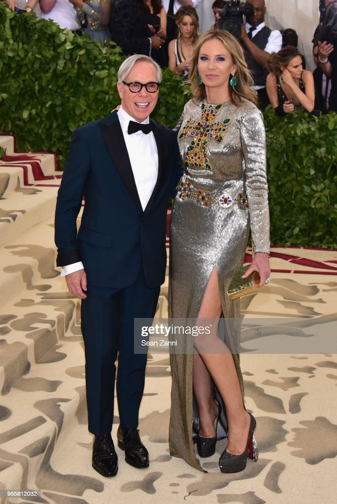 Tommy Hilfiger and Dee Ocleppo attend the Heavenly Bodies: Fashion & The Catholic Imagination Costume Institute Gala at The Metropolitan Museum of Art on May 7, 2018 in New York City.
