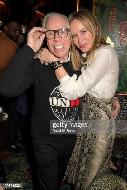 Tommy Hilfiger and Dee Ocleppo attend the TOMMYNOW after party at Annabels on February 16 2020 in London England