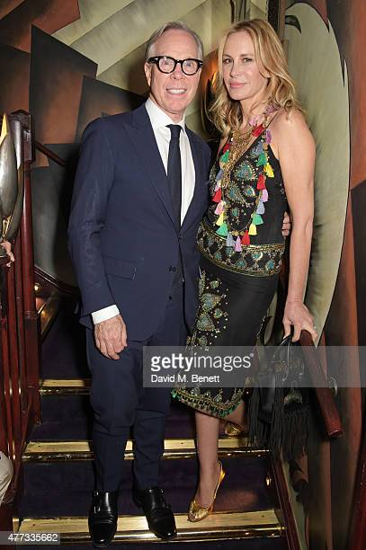 Tommy Hilfiger and Dee Ocleppo attend the Walkabout Foundation Event which they hosted together at Loulou's on June 16, 2015 in London, England.