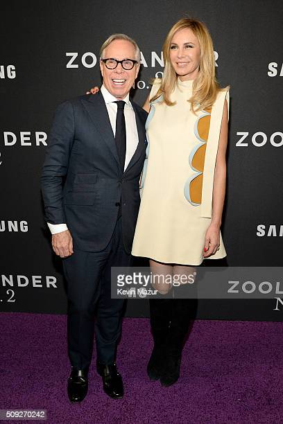 Tommy Hilfiger and Dee Ocleppo attends the Zoolander 2 World Premiere at Alice Tully Hall on February 9 2016 in New York City