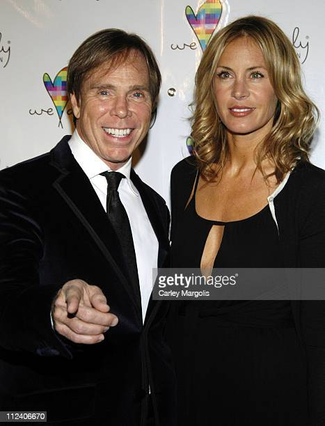 Tommy Hilfiger and Dee Ocleppo during We Are Family Foundation To Honor Sir Elton John Quincy Jones Tommy Hilfiger and The Comcast Family of...