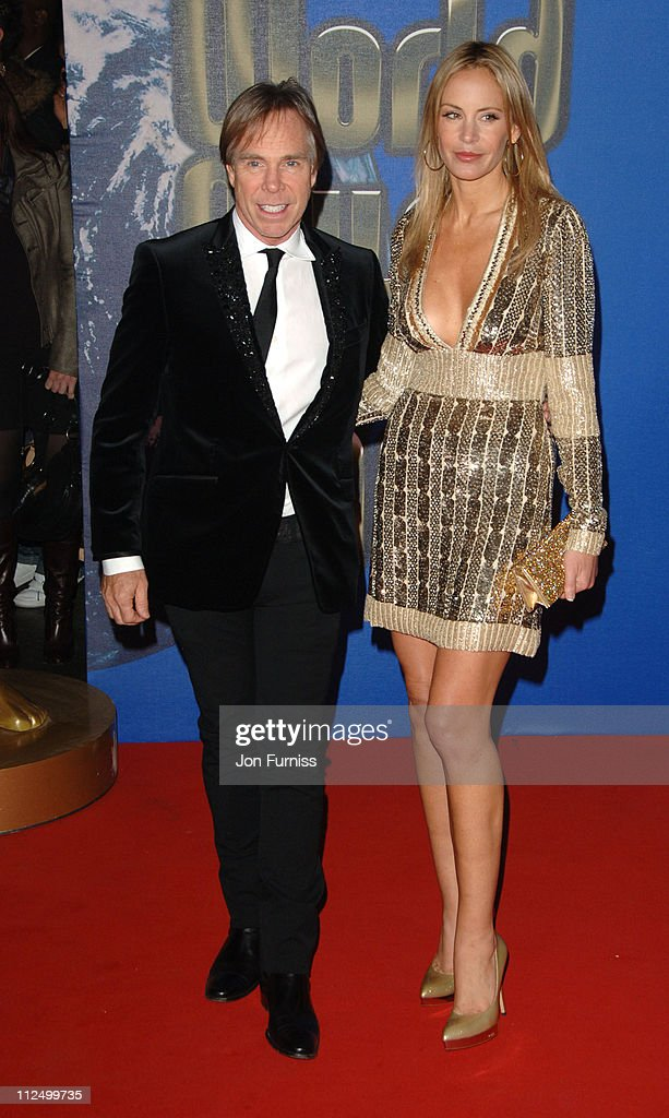 Tommy Hilfiger and Dee Ocleppo during World Music Awards 2006 - Inside Arrivals at Earls Court in London, United Kingdom.