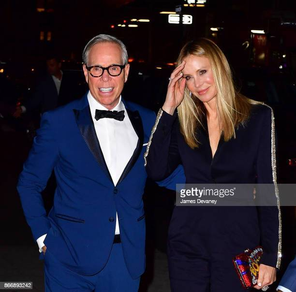 Tommy Hilfiger and Dee Ocleppo Hilfiger arrive to the 2017 FGI Night Of Stars Modern Voices gala at Cipriani Wall Street on October 26 2017 in New...