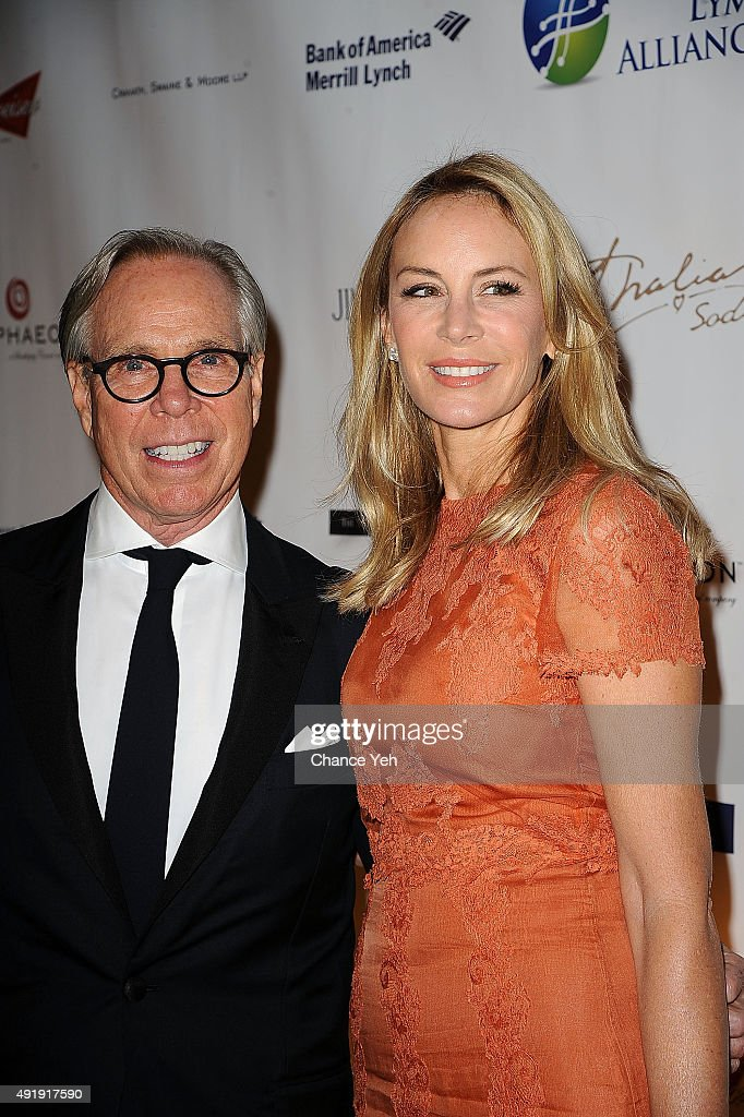 Tommy Hilfiger and Dee Ocleppo Hilfiger attend 2015 Global Lyme Alliance Gala at Cipriani 42nd Street on October 8, 2015 in New York City.