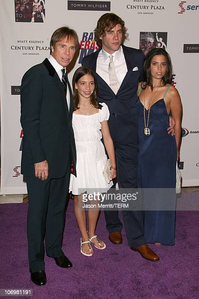 Tommy Hilfiger and family during 13th Annual Race to Erase MS Disco Fever to Erase MS Arrivals at Hyatt Regency Century Plaza in Century City...