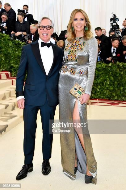 Tommy Hilfiger and Hilfiger attend the Heavenly Bodies Fashion The Catholic Imagination Costume Institute Gala at The Metropolitan Museum of Art on...