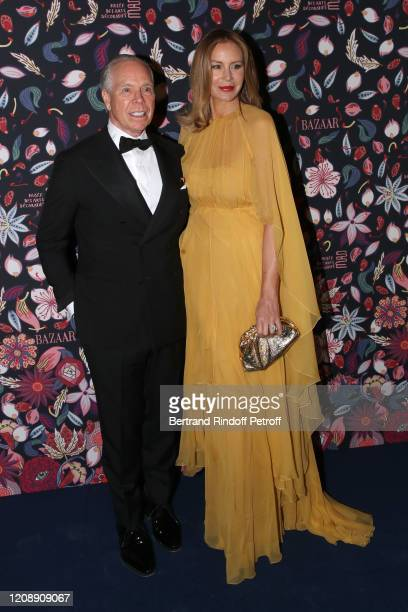 Tommy Hilfiger and his wife Dee Ocleppo Hilfiger attend the Harper's Bazaar Exhibition as part of the Paris Fashion Week Womenswear Fall/Winter...