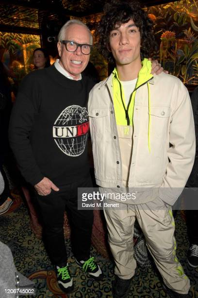 Tommy Hilfiger and Jorge Lopez attend the TOMMYNOW after party at Annabels on February 16 2020 in London England