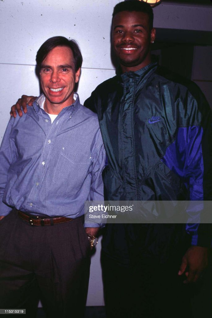 Tommy Hilfiger and Ken Griffey Jr. during Tommy Hilfiger and Ken Griffy Jr. - 1994 at Hilfiger's offices in New York City, New York, United States.