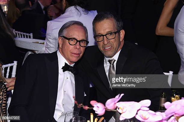 Tommy Hilfiger and Kenneth Cole attend the 2016 amfAR New York Gala at Cipriani Wall Street on February 10 2016 in New York City