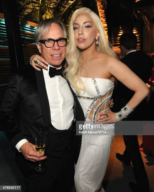 Tommy Hilfiger and Lady Gaga attend the 2014 Vanity Fair Oscar Party Hosted By Graydon Carter on March 2 2014 in West Hollywood California