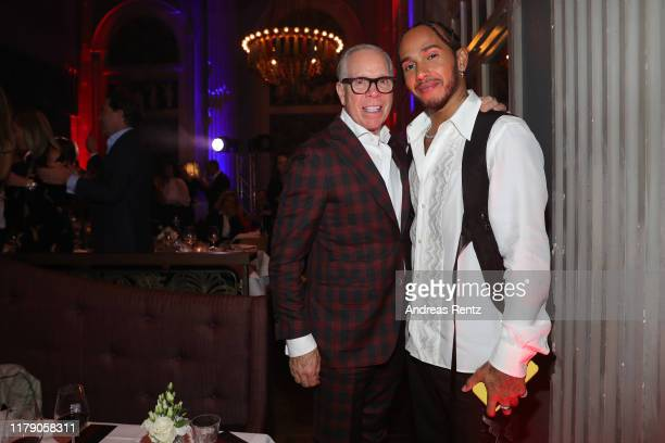 Tommy Hilfiger and Lewis Hamilton attend the Tommy Hilfiger VIP Dinner during the 15th Zurich Film Festival on October 04, 2019 in Zurich,...