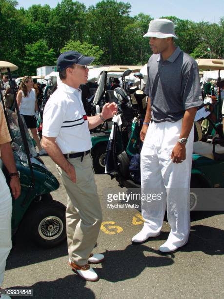Tommy Hilfiger and NY Knick Allan Houston during Tommy Hilfiger AllAmerican Golf Classic to Benefit the Washington DC Martin Luther King Jr National...