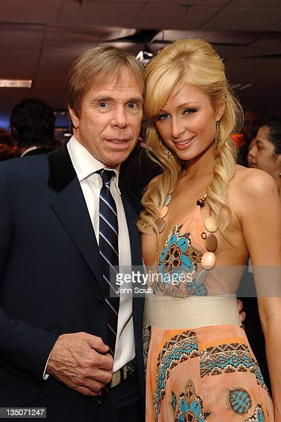 Tommy Hilfiger and Paris Hilton during 13th Annual Race to Erase MS Sponsored by Nancy Davis and Tommy Hilfiger Silent Auction at Hyatt Regency...