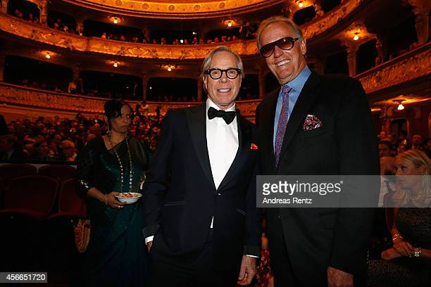 Tommy Hilfiger and Peter Fonda attend the Award Night Ceremony during Day 10 of Zurich Film Festival 2014 on October 4 2014 in Zurich Switzerland