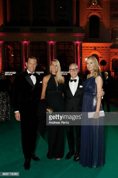 Tommy Hilfiger and PVH Europe Daniel Grieder and his wife Sandra Grieder Tommy Hilfiger and his wife Dee Hilfiger attend the Award Night of the the...