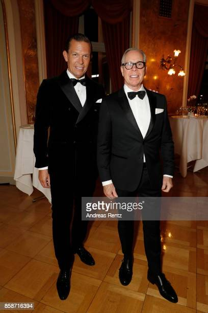 Tommy Hilfiger and PVH Europe Daniel Grieder and Tommy Hilfiger attend the Award Night of the the 13th Zurich Film Festival on October 7 2017 in...