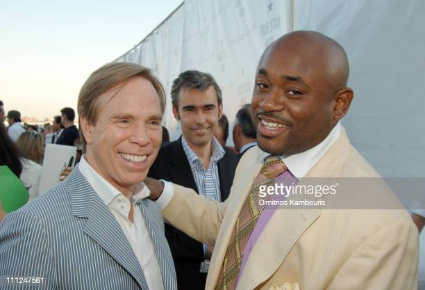 Tommy Hilfiger and Steve Stout during Enrique Iglesias and Tommy Hilfiger Launch New Fragrance 'True Star' for Men at Manhattan Heliport in New York...