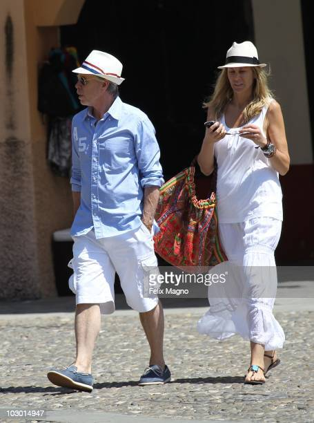 Tommy Hilfiger and wife Dee Ocleppo sighted on holiday on July 21 2010 in Portofino Italy