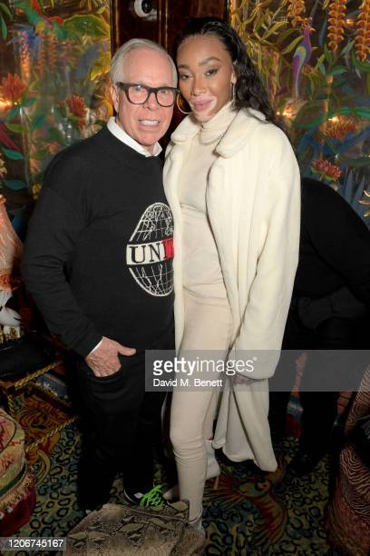 Tommy Hilfiger and Winnie Harlow attend the TOMMYNOW after party at Annabels on February 16 2020 in London England