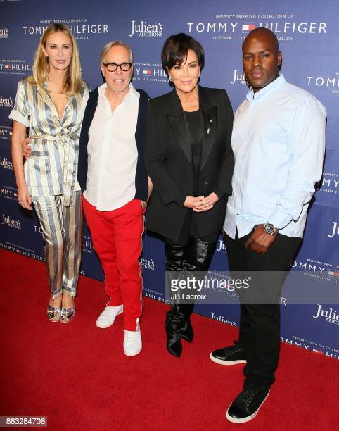 Tommy Hilfiger Dee Ocleppo Kris Jenner and Corey Gamble attend Julien's Auctions and Tommy Hilfiger VIP reception on October 19 2017 in Los Angeles...