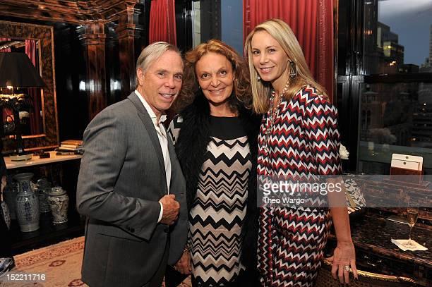Tommy Hilfiger Diane von Furstenberg and Dee Hilfiger attend the CFDA / Vogue Fashion Fund American In Paris Cocktail At Tommy Hilfiger's Residence...