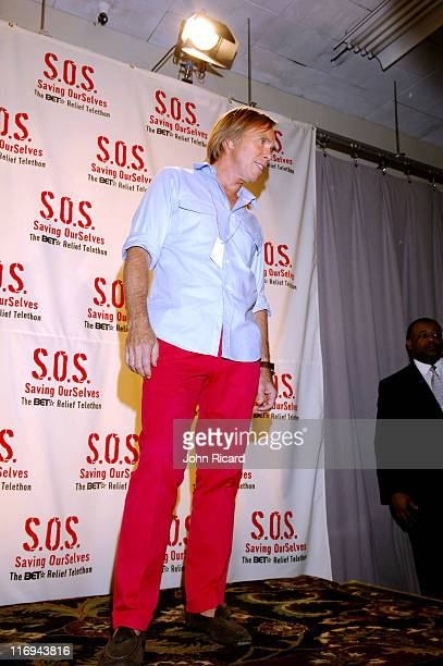 Tommy Hilfiger during SOS The BET Telethon Relief Press Room at CBS Studios in New York New York United States