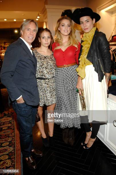 Tommy Hilfiger; Elizabeth Hilfiger; Amber Heard and Tasya Vanree attend the Tommy Hilfiger celebration of Fashion's Night Out at Tommy Hilfiger Fifth...