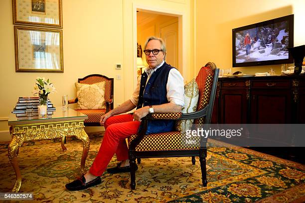Tommy Hilfiger European designer poses during an exclusive interview on September 26 2014 in New Delhi India