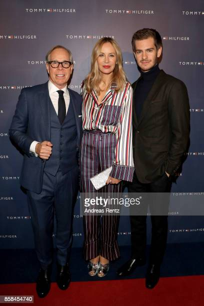 Tommy Hilfiger his wife Dee Hilfiger and Andrew Garfield attend the Tommy Hilfiger VIP Dinner in celebration of the 13th Zurich Film Festival on...