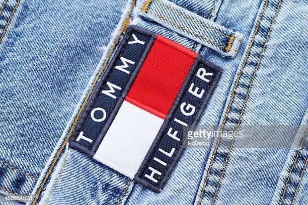 tommy hilfiger jeans - tommy hilfiger designer label stock pictures, royalty-free photos & images
