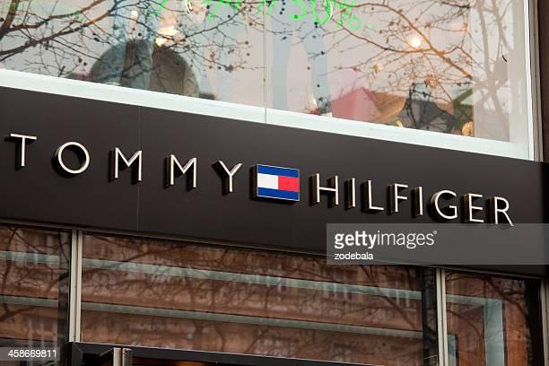 Tommy Hilfiger Logo on a Shop