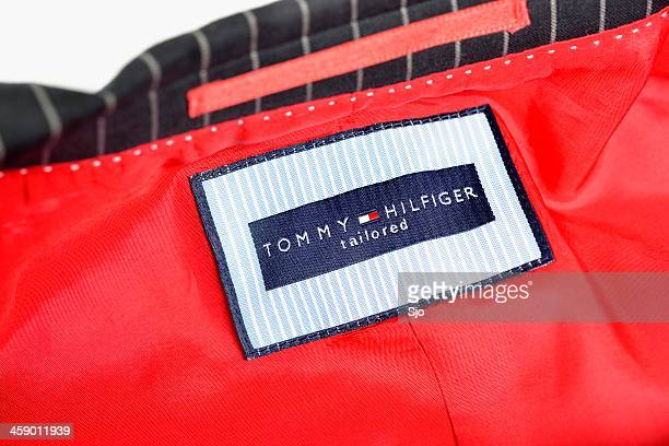 tommy hilfiger suit - tommy hilfiger designer label stock pictures, royalty-free photos & images