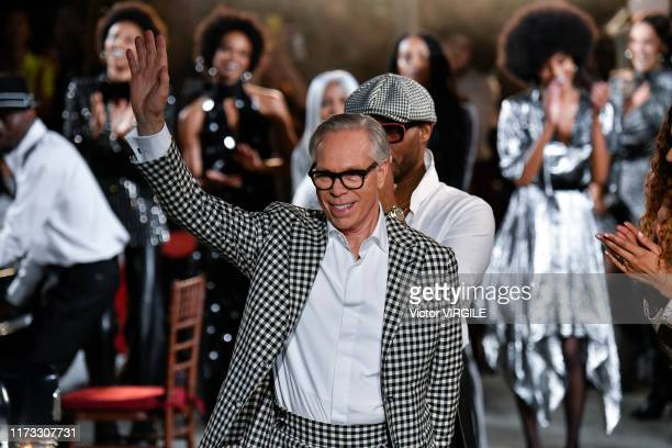 Tommy Hilfiger walks the runway at the Tommy Hilfiger Ready to Wear Fall/Winter 2019 fashion show during New York Fashion Week on September 08, 2019...