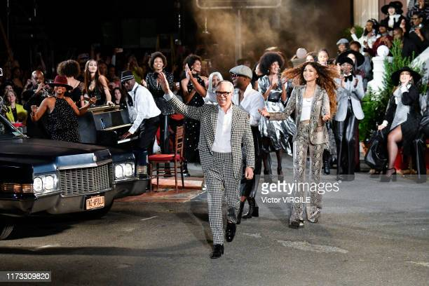 Tommy Hilfiger walks the runway at the Tommy Hilfiger Ready to Wear Fall/Winter 2019 fashion show during New York Fashion Week on September 08 2019...