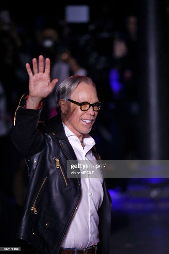 Tommy Hilfiger walks the runway at the Tommy Hilfiger Ready to Wear Spring/Summer 2018 fashion show during London Fashion Week September 2017 on September 19, 2017 in London, England