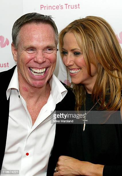 Tommy Hilfiger with Sheryl Crow during 'Fashion Rocks' in Aid of The Princes Trust at Royal Albert Hall in London United Kingdom