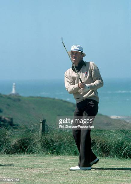 Tommy Horton of Great Britain in action during the Jersey Open Golf Championship held at La Moye Golf Club in Jersey circa June 1980