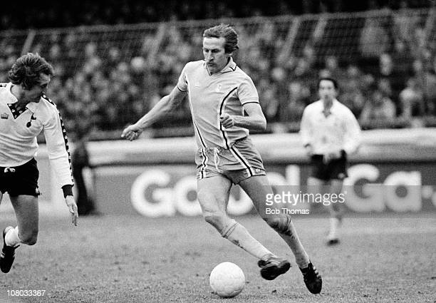Tommy Hutchison in action for Coventry City against Tottenham Hotspur during the First Division match at Highfield Road in Coventry, 10th February...
