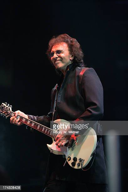 Tommy Iommi performs with Heaven Hell in concert at the HP Pavilion on April 24 2007 in San Jose California