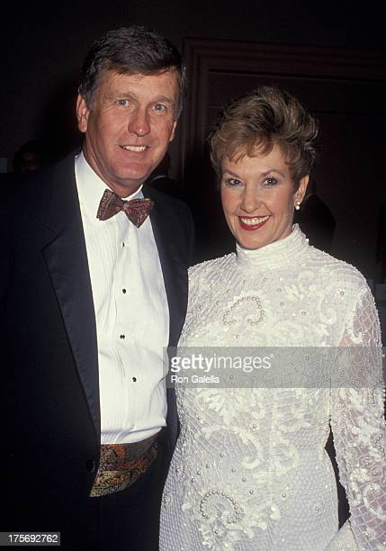 Tommy John and wife Sally John attend Don Shula Celebrity Golf Classic on February 25 1994 at the Fountainbleau Hilton Hotel in Miami Florida