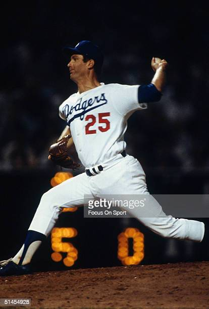 Tommy John of the Los Angeles Dodgers on the mound during the World Series against the New York Yankees at Dodger Stadium in Los Angeles CA in...