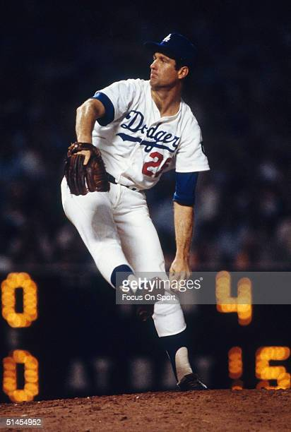 Tommy John of the Los Angeles Dodgers pitches during the World Series against the New York Yankees at Dodger Stadium on October 1978 in Los Angeles...