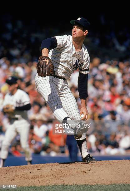 Tommy John of the New York Yankees on the mound during his tenure as a pitcher for the Yankees circa 197982 or 198689 at Yankee Stadium in the Bronx...
